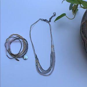Multi strand necklace w/ bracelets to match
